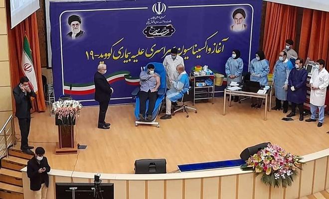 İran Coronavirus aşılamasına başladı