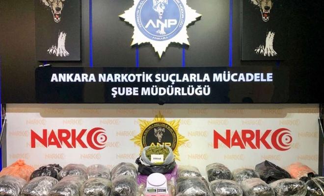 Ankara'da 22 kilo esrar ele geçirildi
