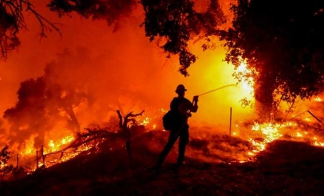 ABD'de çıkan yangından dolayı acil durum ilan edildi