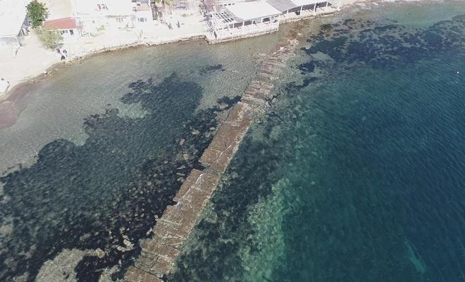 Deniz çekilince 3500 yıllık kral yolu gün yüzüne çıktı
