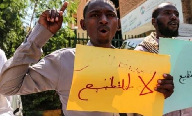 Sudan halkından siyonist işgal rejimi ile normalleşmeye tepki