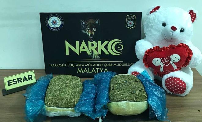 Malatya'da 6 kilo kubar esrar ele geçirildi