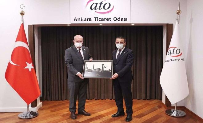 Siirt Valisi Hacıbektaşoğlu'ndan Ankara Ticaret Odası Başkanı Baran'a ziyaret