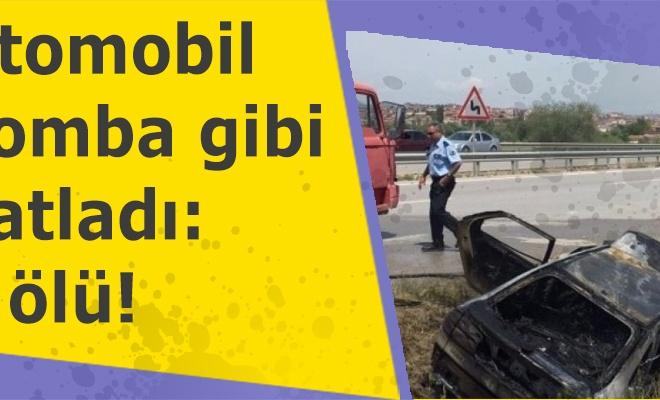 Otomobil bomba gibi patladı: 4 ölü!