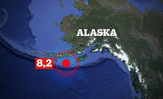 Alaska'da 8,2 büyüklüğünde deprem!