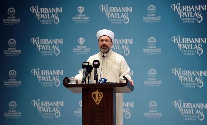 """Diyanet İşleri Başkanı Erbaş'tan """"dayanışma ve yardımlaşma"""" mesajı"""