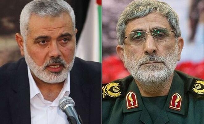 İran Kudüs Gücü Komutanı Tuğgeneral Kaani ile İsmail Heniyye telefonda görüştü