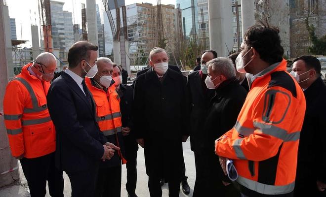 Erdoğan Barbaros Hayrettin Paşa Camii'nde incelemelerde bulundu