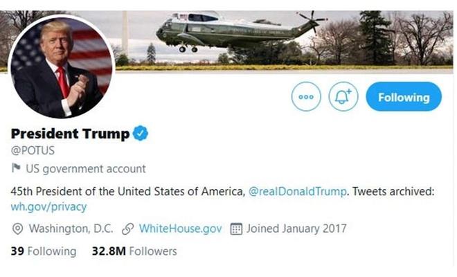 Trump'ın kullandığı başkanlık resmi Twitter hesabı 20 Ocak'ta Biden'a devredilecek