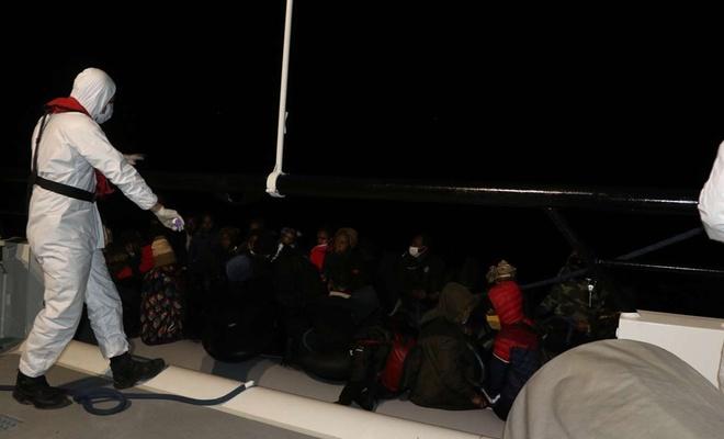 Balıkesir açıklarında 39 düzensiz göçmen kurtarıldı