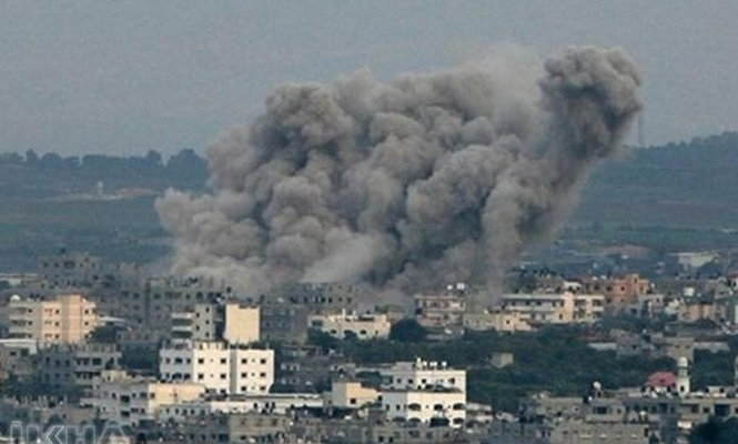 Four Palestinians injure in the zionists attack on Gaza