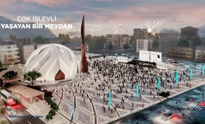 Adıyaman kent meydanı projesi beğeniye sunuldu