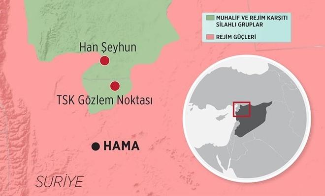 BAAS Rejimi  Rusya'nın desteğiyle Han Şeyhun'u ele geçirdi