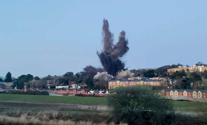 İngiltere'de İkinci Dünya Savaşında kalma bomba imha edildi