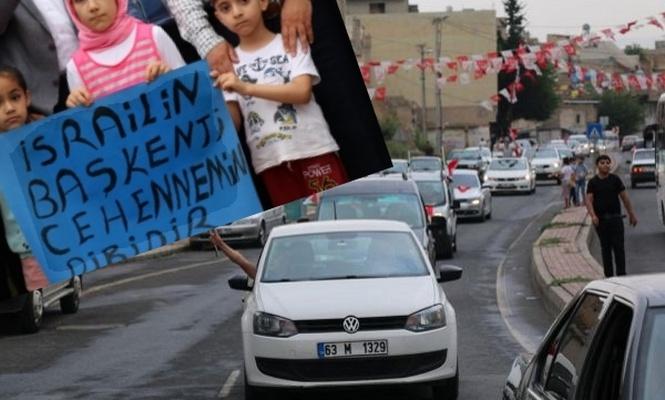 Kudüs`e destek için araç konvoyu oluşturuldu