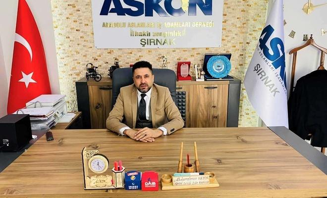 ASKON Şırnak Şube Başkanı Kesik: Şırnak'ta uçak seferleri arttırılsın