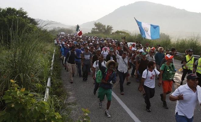 ABD'ye gitmeye çalışan göçmenlere Guatemala ordusu müdahale ett