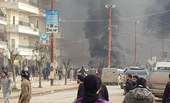 Afrin'de bomba yüklü yakıt tankeri patladı: En az 8 ölü