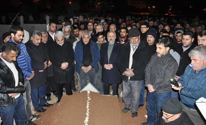 HÜDA PAR Batman İl Başkanı Davut Şahin'in ağabeyi defnedildi