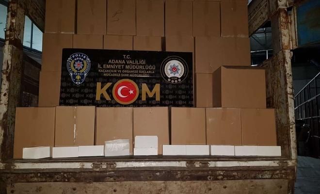 Adana'da gümrük kaçağı makaron ve akaryakıt operasyonu