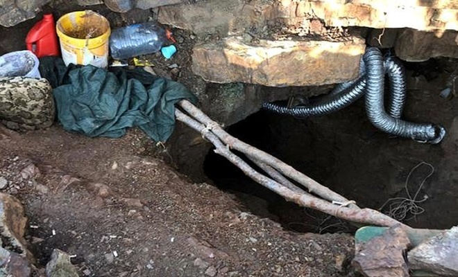 Define avcıları, kazdıkları tünele havalandırma sistemi kurmuş