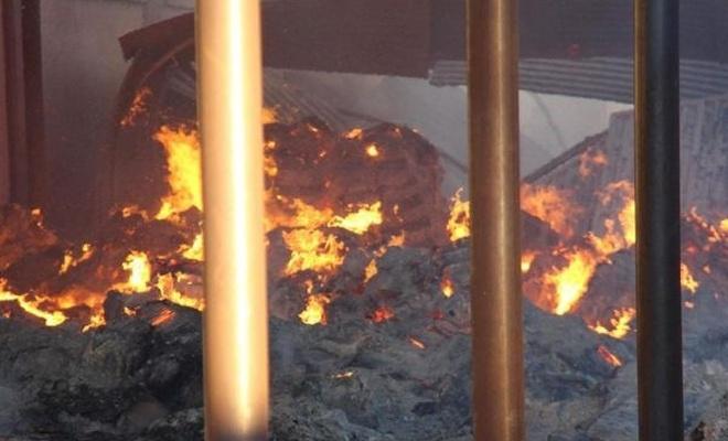 Süt işleme tesisindeki yangın kontrol altına alındı