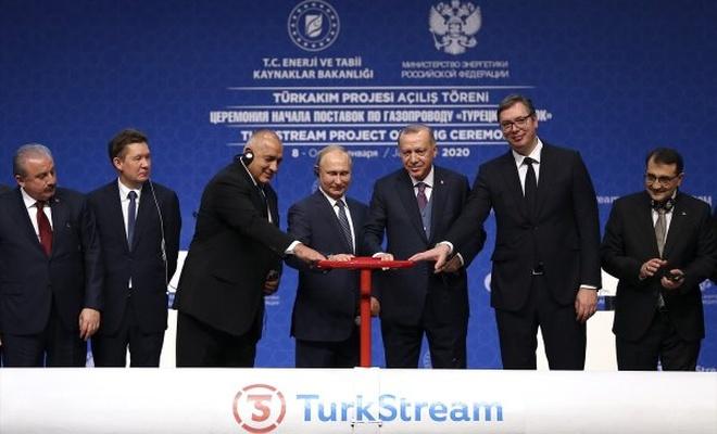Erdoğan-Putin TürkAkım'ı birlikte açtı