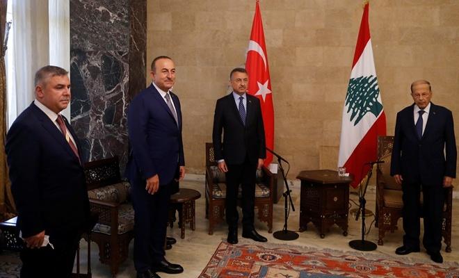 Fuat Oktay, Lübnan Cumhurbaşkanı Michel Aoun'la görüştü