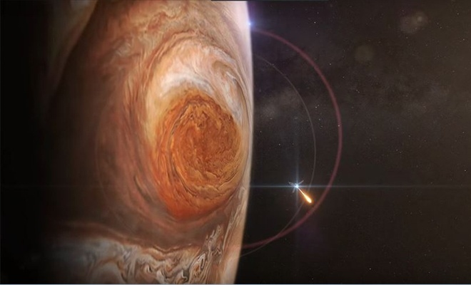 Jüpiter'in 'Büyük Kırmızı Leke'si görüntülendi