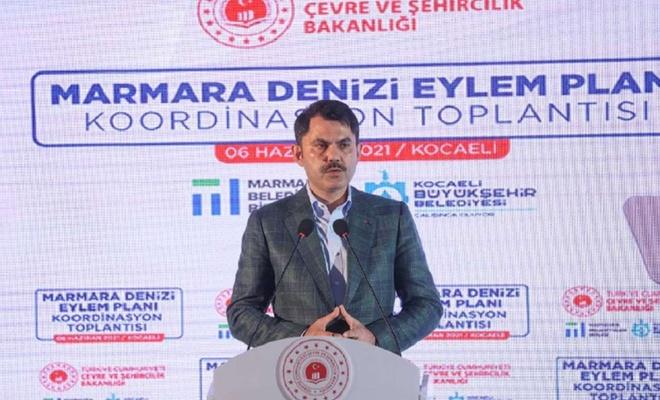 """Bakan Kurum """"Marmara Denizi Eylem Planı'nı"""" açıkladı"""