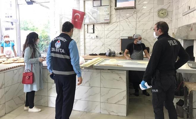 Gaziantep'te Covid-19 tedbirleri kapsamında iş yerleri denetlendi