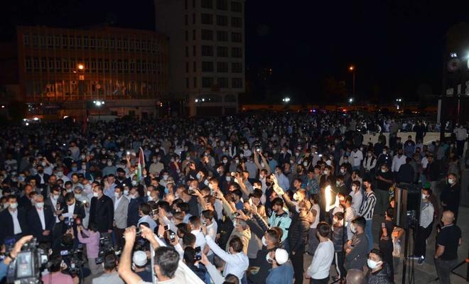 HÜDA PAR protests zionist regime attacks on Gaza