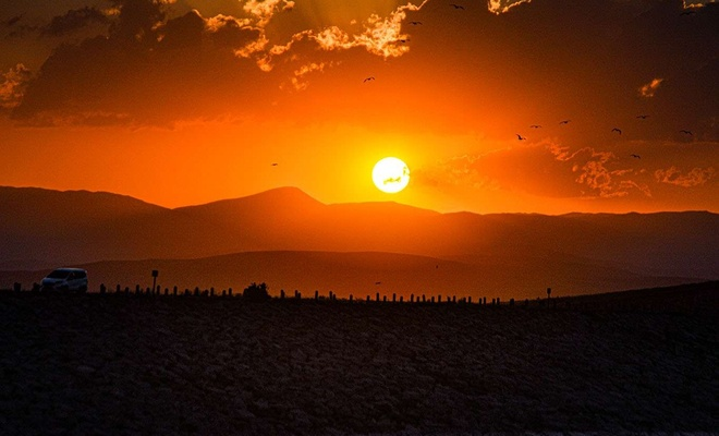 Ağrı'da gün batımı