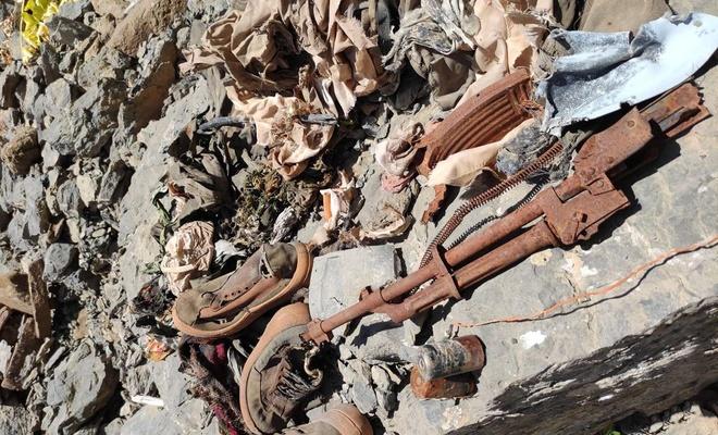 PKK operasyonunda insan kemikleri ve mühimmat ele geçirildi