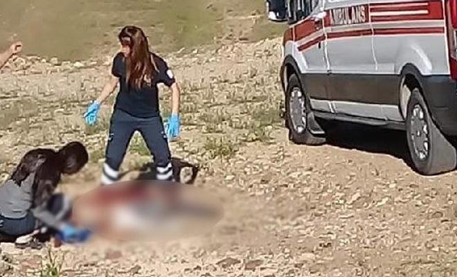 Çeşmeden su dolduran yaşlı kadına köpekler saldırdı