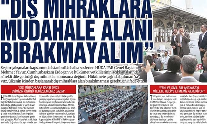 """""""DIŞ MİHRAKLARA MÜDAHALE ALANI BIRAKMAYALIM"""""""