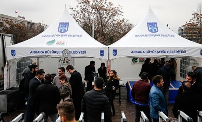 Ankara'da 15 noktada tanzim satış noktası kuruldu