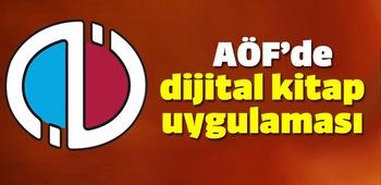 AÖF`de dijital kitap uygulaması