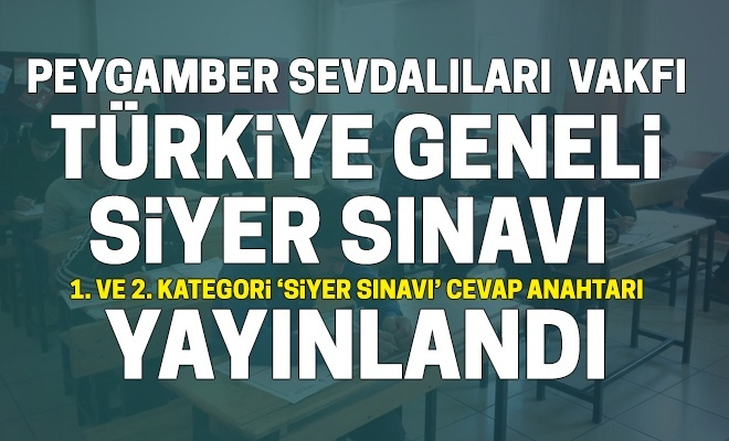 Siyer Snav 1 Ve 2 Kategori Cevap Anahtar Yaynland