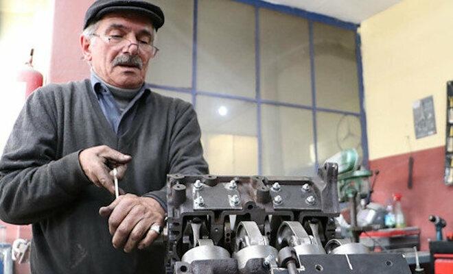 Yerli motor icat eden usta ile bakanlık görüştü!