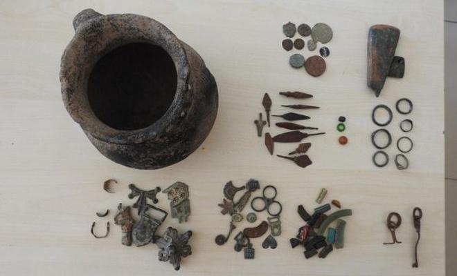 Bizans dönemine ait 75 parça tarihi eser ele geçirildi
