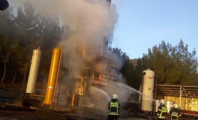 Petrol tankında korkutan yangın