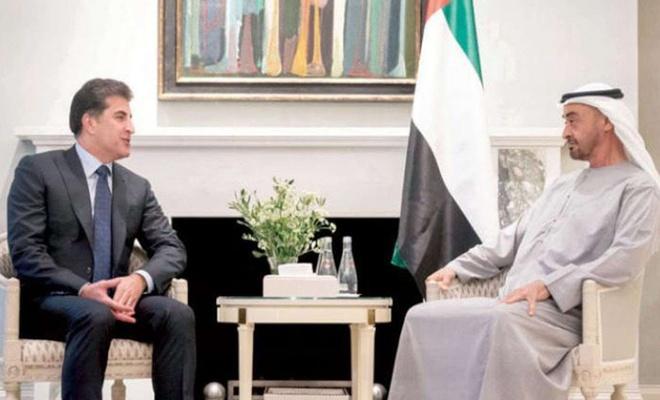 Abu Dabi Veliaht Prensi, Neçirvan Barzani ile bir araya geldi