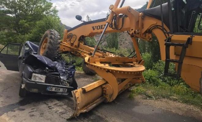 İş makinesinin ezdiği adam hayatını kaybetti