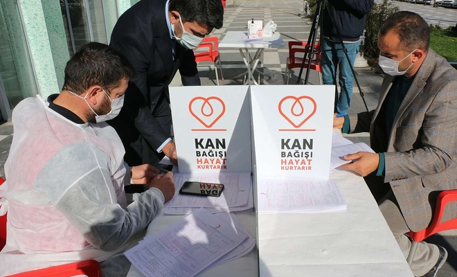 HÜDA PAR Şanlıurfa İl Başkanlığından kan bağışı kampanyasına destek