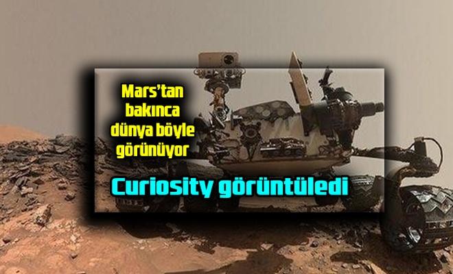 İşte Mars'tan dünya böyle görünüyor