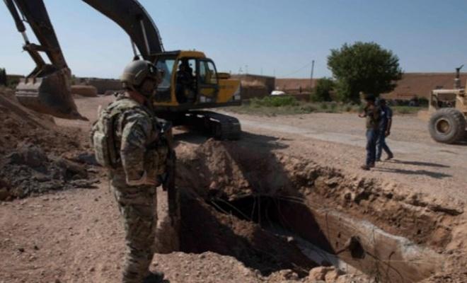 ABD ile görüşme sonrası Suriye'de YPG/PKK siperleri yıkılıyor