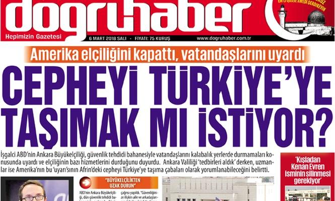 Amerika elçiliğini kapattı, Cepheyi Türkiye`ye taşımak mı istiyor
