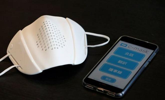 8 dilde çeviri yapabilen ve sosyal mesafeyi koruyan maske üretildi
