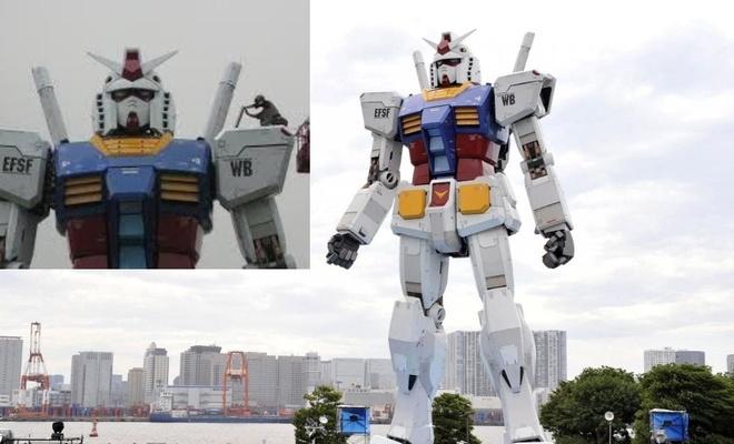 18 metrelik dev Gundam robotu yürümeye başladı